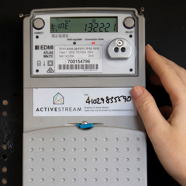 photos of a smart meter