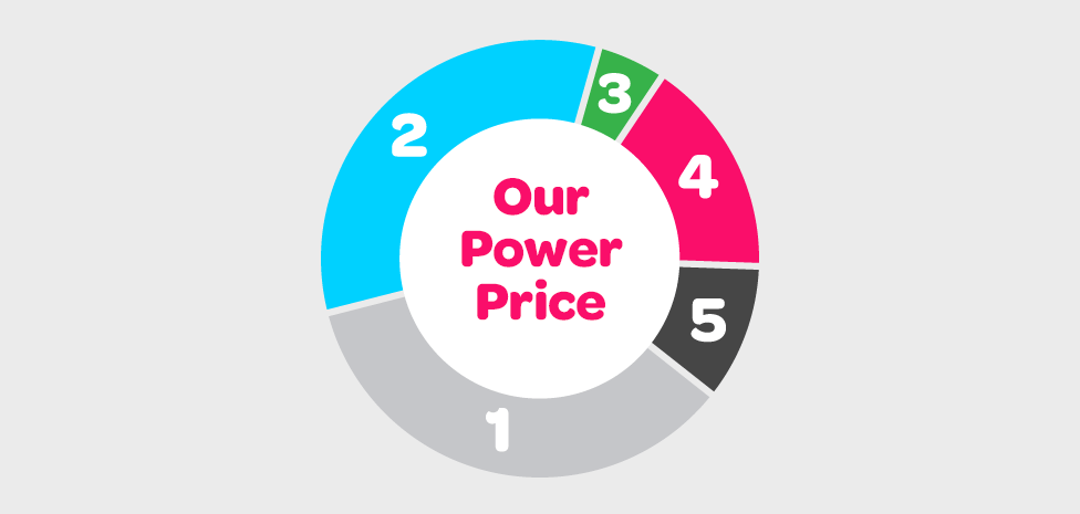 Pie chart representing what makes up energy prices