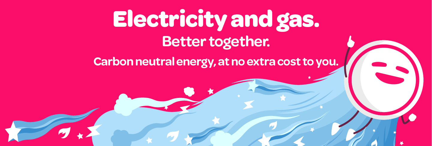 Carbon neutral electricity and gas, at no extra cost