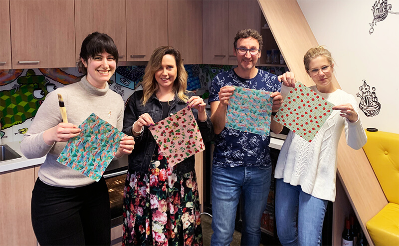 Some of the Powershop team with their beeswax wraps!